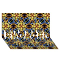 Vibrant Medieval Check Engaged 3d Greeting Card (8x4)