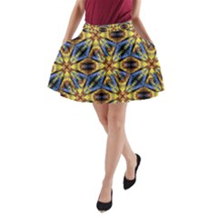 Vibrant Medieval Check A Line Pocket Skirt by dflcprintsclothing