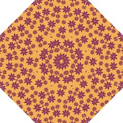 Purple And Yellow Flower Shower Straight Umbrellas by CircusValleyMall