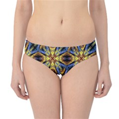 Vibrant Medieval Check Hipster Bikini Bottoms by dflcprintsclothing