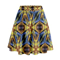 Vibrant Medieval Check High Waist Skirt by dflcprintsclothing