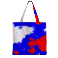 Red White And Blue Sky Grocery Tote Bag by TRENDYcouture