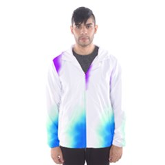 Pink White And Blue Sky Hooded Wind Breaker (Men) by TRENDYcouture