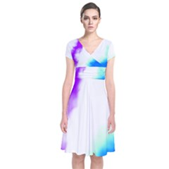 Pink White And Blue Sky Wrap Dress by TRENDYcouture
