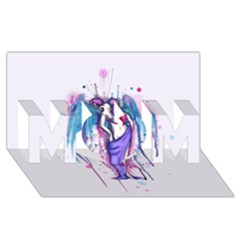 Dirty Wings Mom 3d Greeting Card (8x4)  by lvbart