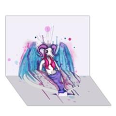 Dirty Wings Heart Bottom 3d Greeting Card (7x5)  by lvbart