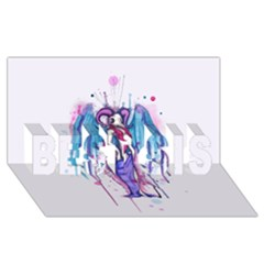 Dirty Wings Best Sis 3d Greeting Card (8x4)  by lvbart