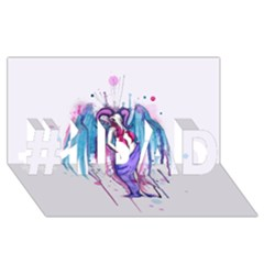 Dirty Wings #1 Dad 3d Greeting Card (8x4)  by lvbart