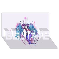 Dirty Wings Believe 3d Greeting Card (8x4)  by lvbart