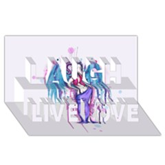 Dirty Wings Laugh Live Love 3d Greeting Card (8x4)  by lvbart