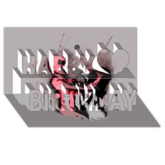 Come Play Happy Birthday 3d Greeting Card (8x4)