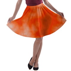 Orange Essence  A Line Skater Skirt by TRENDYcouture