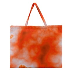Orange Essence  Zipper Large Tote Bag by TRENDYcouture