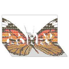 Butterfly Sorry 3d Greeting Card (8x4)  by cocksoupart