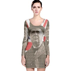 Churchill 1 Long Sleeve Velvet Bodycon Dress