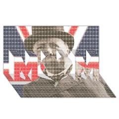 Winston Churchill Mom 3d Greeting Card (8x4)