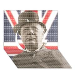 Winston Churchill Circle 3d Greeting Card (7x5)