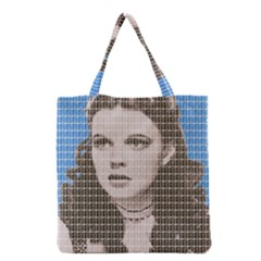Over The Rainbow   Blue Grocery Tote Bag by cocksoupart