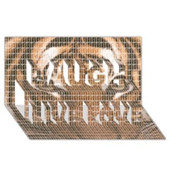 Tiger Tiger Laugh Live Love 3d Greeting Card (8x4)