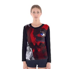 Eagle Face Women s Long Sleeve Tee by DryInk