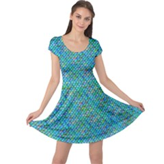 Mermaid Scales Cap Sleeve Dress
