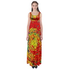 Downtown In Red22 Empire Waist Maxi Dress by BIBILOVER