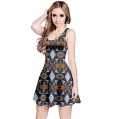 Stones Pattern Reversible Sleeveless Dress