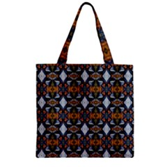 Stones Pattern Zipper Grocery Tote Bag by Costasonlineshop