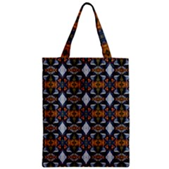 Stones Pattern Zipper Classic Tote Bag