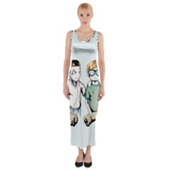 Two For Flinching Fitted Maxi Dress by lvbart