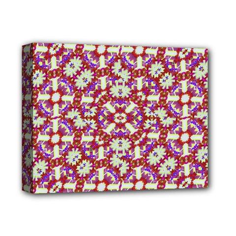 Boho Check Deluxe Canvas 14  X 11  by dflcprints