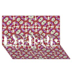 Boho Check Believe 3d Greeting Card (8x4)  by dflcprints