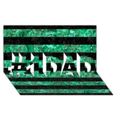 Stripes2 Black Marble & Green Marble #1 Dad 3d Greeting Card (8x4)