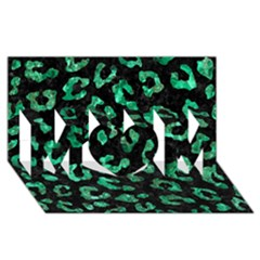 Skin5 Black Marble & Green Marble (r) Mom 3d Greeting Card (8x4) by trendistuff