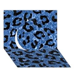 Skin5 Black Marble & Blue Marble Circle 3d Greeting Card (7x5) by trendistuff