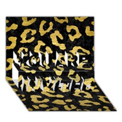Skin5 Black Marble & Gold Brushed Metal (r) You Are Invited 3d Greeting Card (7x5)