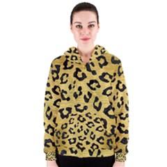 Skin5 Black Marble & Gold Brushed Metal Women s Zipper Hoodie by trendistuff