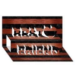 Stripes2 Black Marble & Copper Brushed Metal Best Friends 3d Greeting Card (8x4)