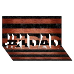 Stripes2 Black Marble & Copper Brushed Metal #1 Dad 3d Greeting Card (8x4)