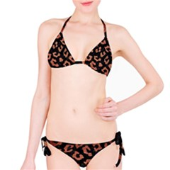 Skin5 Black Marble & Copper Brushed Metal (r) Bikini Set by trendistuff