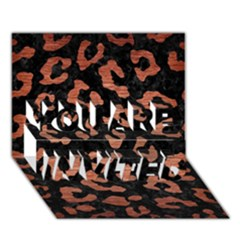 Skin5 Black Marble & Copper Brushed Metal (r) You Are Invited 3d Greeting Card (7x5)