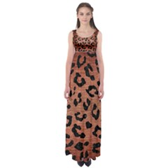 Skin5 Black Marble & Copper Brushed Metal Empire Waist Maxi Dress by trendistuff