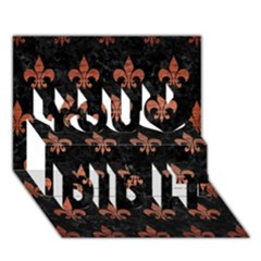 Royal1 Black Marble & Copper Brushed Metal (r) You Did It 3d Greeting Card (7x5)