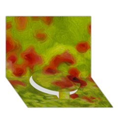 Poppy Iii Circle Bottom 3d Greeting Card (7x5)