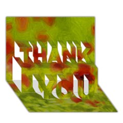 Poppy Iii Thank You 3d Greeting Card (7x5)  by colorfulartwork