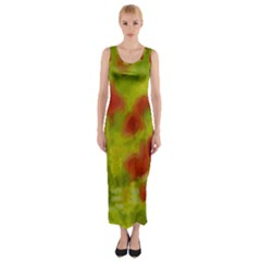 Poppy Iii Fitted Maxi Dress by colorfulartwork