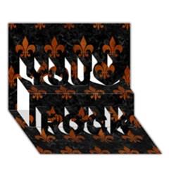 Royal1 Black Marble & Brown Burl Wood (r) You Rock 3d Greeting Card (7x5) by trendistuff