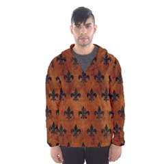Royal1 Black Marble & Brown Burl Wood Hooded Wind Breaker (men) by trendistuff