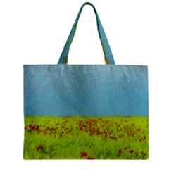 Poppy Iv Zipper Mini Tote Bag by colorfulartwork