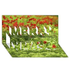 Poppy V Merry Xmas 3d Greeting Card (8x4)